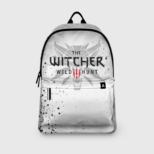 Рюкзак 3D с принтом ВЕДЬМАК ВОЛК БРЫЗГИ КРАСОК / THE WITCHER, вид сбоку #3