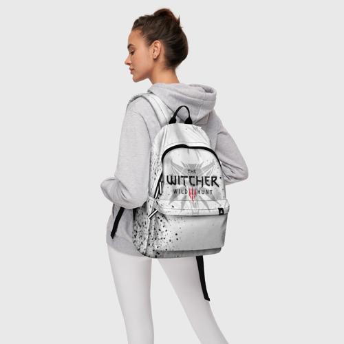 Рюкзак 3D с принтом ВЕДЬМАК ВОЛК БРЫЗГИ КРАСОК / THE WITCHER, фото #4
