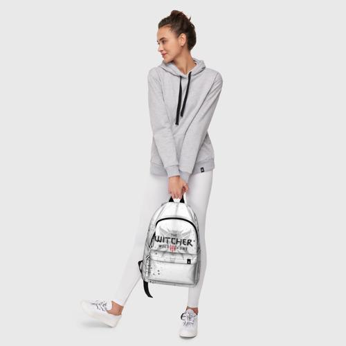 Рюкзак 3D с принтом ВЕДЬМАК ВОЛК БРЫЗГИ КРАСОК / THE WITCHER, фото #6
