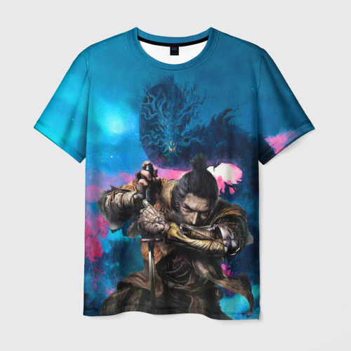Мужская 3D футболка Sekiro Shadows Die Twice