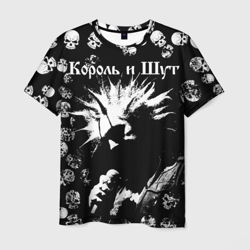 Мужская 3D футболка Король и Шут + Анархия (спина)