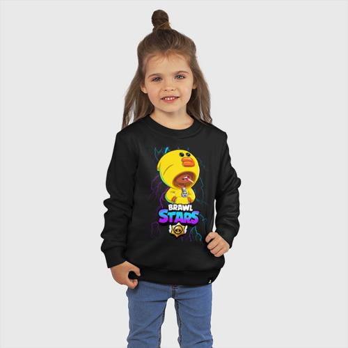 Детский свитшот хлопок с принтом Brawl Stars SALLY LEON, фото на моделе #1