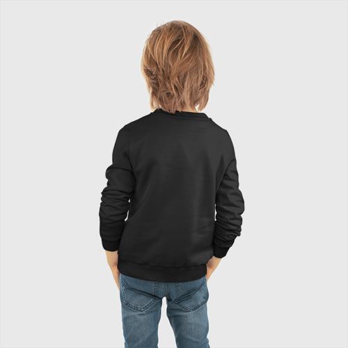 Детский свитшот хлопок с принтом Brawl Stars SALLY LEON, вид сзади #2