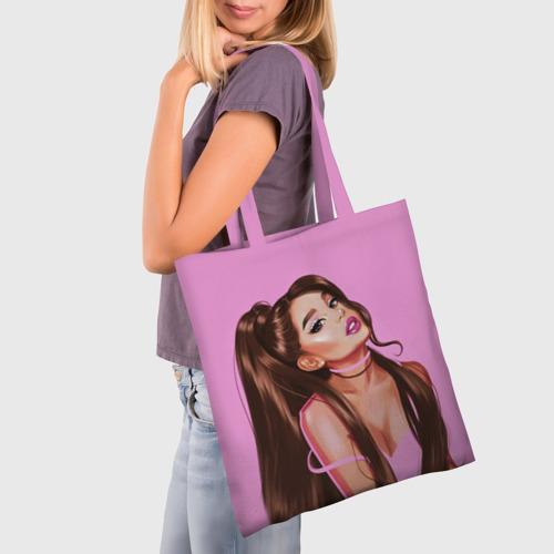 Сумка 3D повседневная с принтом Ariana Grande (Ариана Гранде), фото на моделе #1