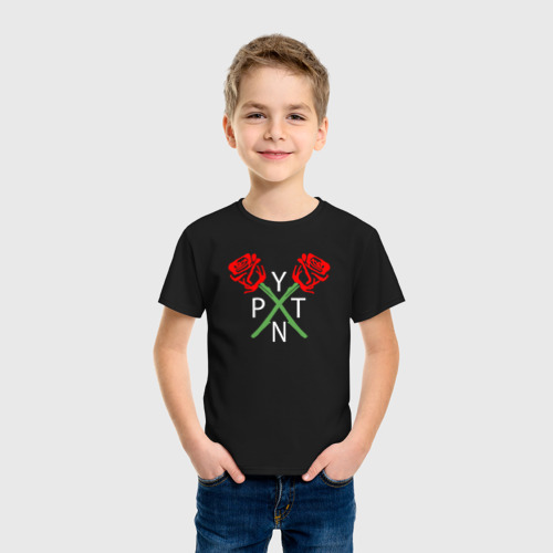 Детская футболка с принтом PAYTON MOORMEIER - ТИКТОК | РОЗЫ, фото на моделе #1