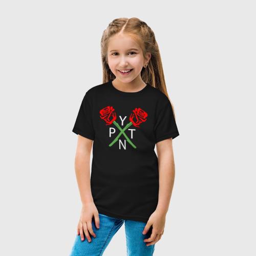 Детская футболка с принтом PAYTON MOORMEIER - ТИКТОК | РОЗЫ, вид сбоку #3