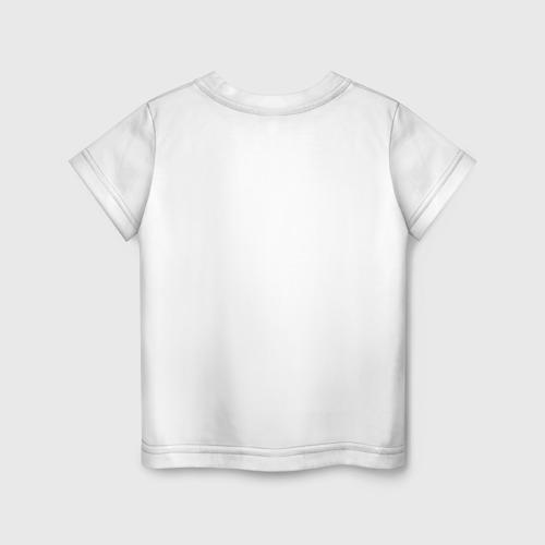 Детская футболка с принтом Minecraft - лиса, вид сзади #1