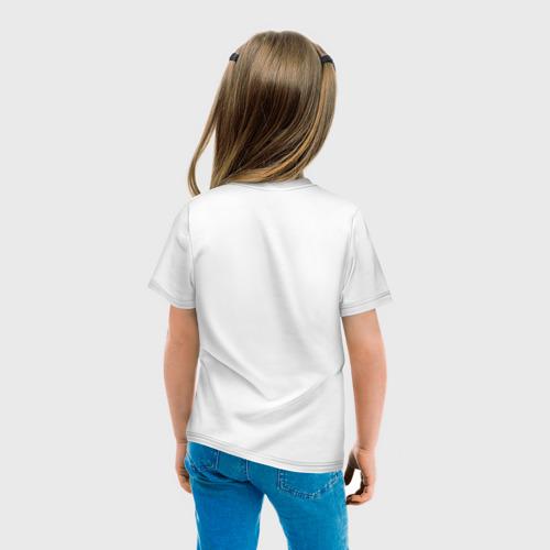 Детская футболка с принтом Minecraft - лиса, вид сзади #2