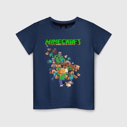 Детская хлопковая футболка Minecraft