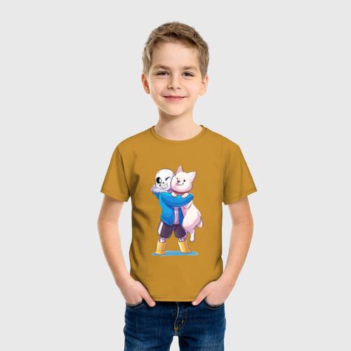 Детская футболка с принтом UNDERTALE, фото на моделе #1