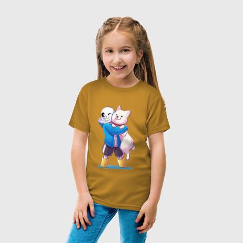 Детская футболка с принтом UNDERTALE, вид сбоку #3