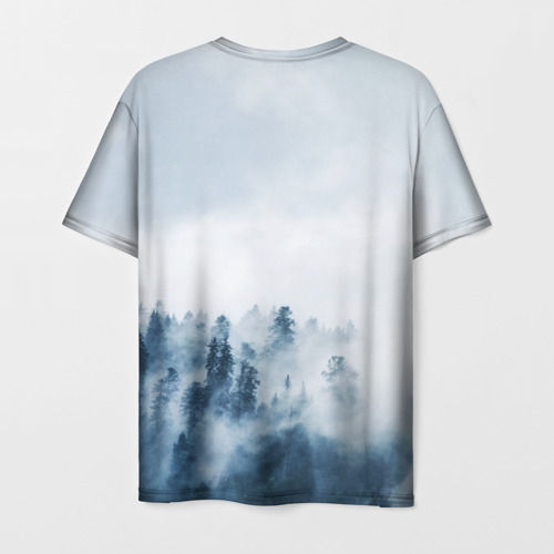 Мужская 3D футболка с принтом МЫ РУССКИЕ С НАМИ БОГ, вид сзади #1