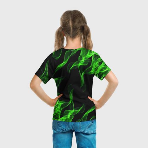 Детская 3D футболка с принтом BRAWL STARS LEON / ЛЕОН, вид сзади #2