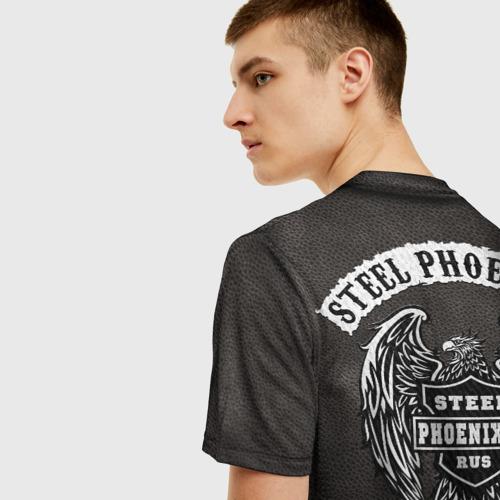 Мужская 3D футболка с принтом Косуха Байкерская, вид сзади #2