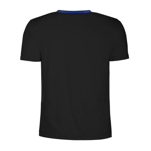 Мужская футболка 3D спортивная с принтом Волк, вид сзади #1