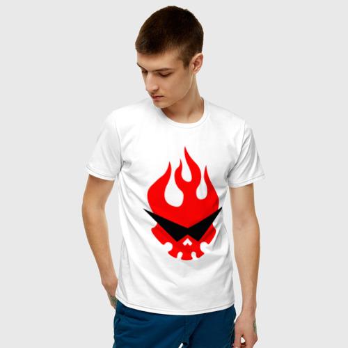 Мужская футболка с принтом Гуррен Лаганн символ, фото на моделе #1
