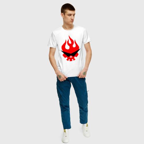 Мужская футболка с принтом Гуррен Лаганн символ, вид сбоку #3