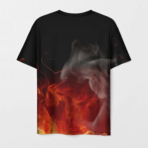 Мужская 3D футболка с принтом Three Days Grace, вид сзади #1