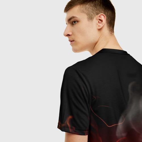 Мужская 3D футболка с принтом Three Days Grace, вид сзади #2