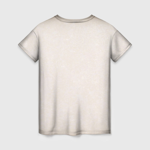 Женская 3D футболка с принтом Toss a coin to your Witcher, вид сзади #1