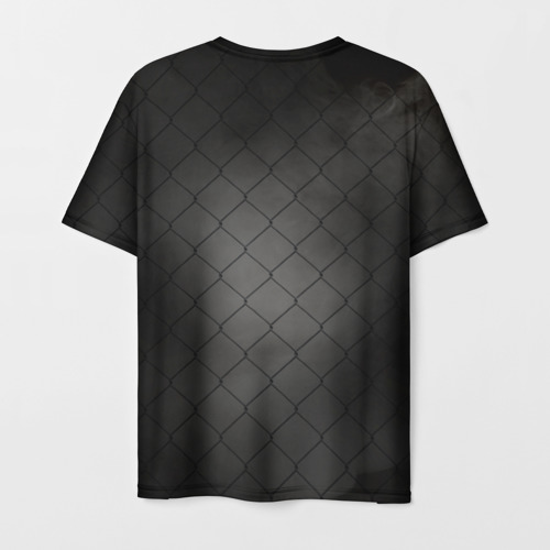 Мужская 3D футболка с принтом Хабиб Нурмагомедов, вид сзади #1