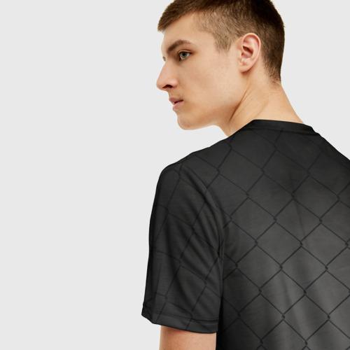 Мужская 3D футболка с принтом Хабиб Нурмагомедов, вид сзади #2