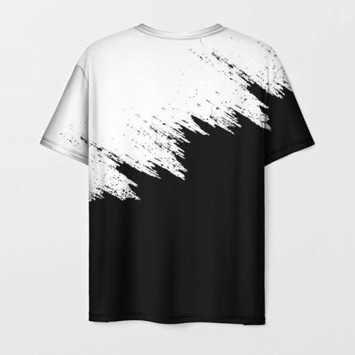 Мужская 3D футболка с принтом BMW | БМВ (Z), вид сзади #1