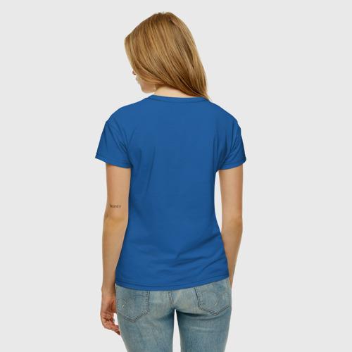 Женская футболка с принтом Модный крокодил, вид сзади #2