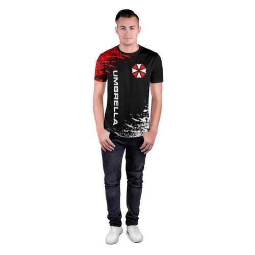 Мужская футболка 3D спортивная с принтом UMBRELLA CORPORATION, вид сбоку #3