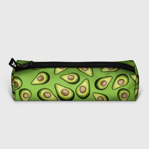 Пенал 3D с принтом Люблю авокадо, вид сзади #1