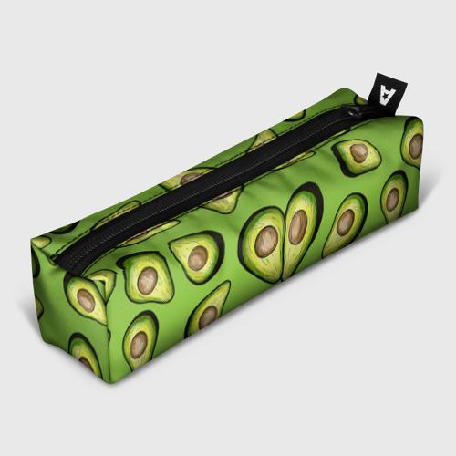 Пенал 3D с принтом Люблю авокадо, вид спереди #2