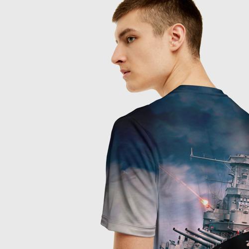 Мужская 3D футболка с принтом ВМФ, вид сзади #2