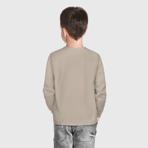 Детский хлопковый лонгслив с принтом Гарри Поттер, вид сзади #2
