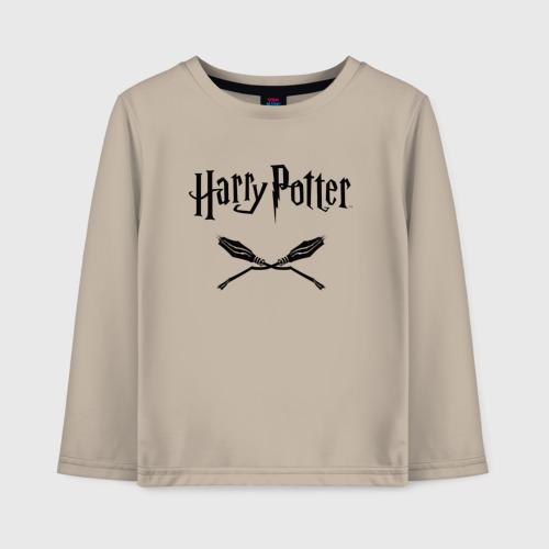 Детский хлопковый лонгслив с принтом Гарри Поттер, вид спереди #2