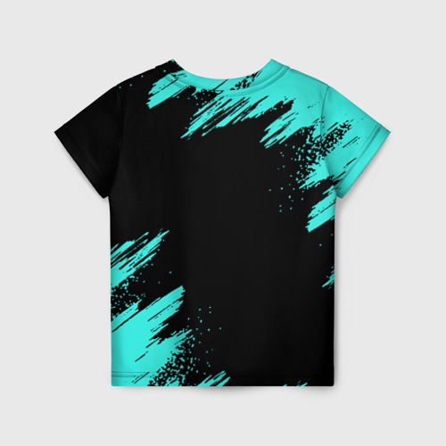 Детская 3D футболка с принтом MINECRAFT, вид сзади #1