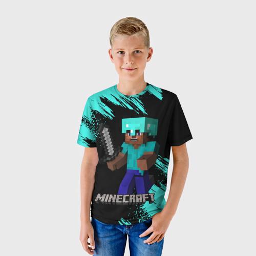 Детская 3D футболка с принтом MINECRAFT, фото на моделе #1