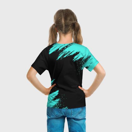 Детская 3D футболка с принтом MINECRAFT, вид сзади #2