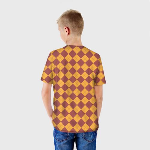 Детская 3D футболка с принтом Coat of Gryffiindor, вид сзади #2
