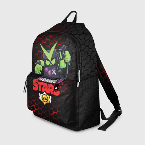 Рюкзак 3D с принтом BRAWL STARS VIRUS 8-BIT   БРАВЛ СТАРС (Z), вид спереди #2
