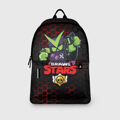 Рюкзак 3D с принтом BRAWL STARS VIRUS 8-BIT   БРАВЛ СТАРС (Z), вид сбоку #3