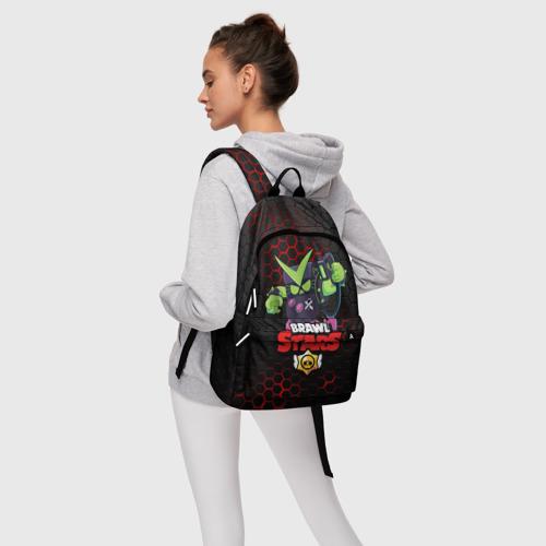 Рюкзак 3D с принтом BRAWL STARS VIRUS 8-BIT   БРАВЛ СТАРС (Z), фото #4
