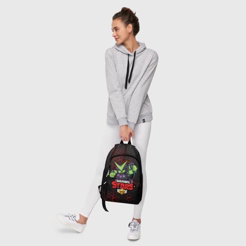 Рюкзак 3D с принтом BRAWL STARS VIRUS 8-BIT   БРАВЛ СТАРС (Z), фото #6