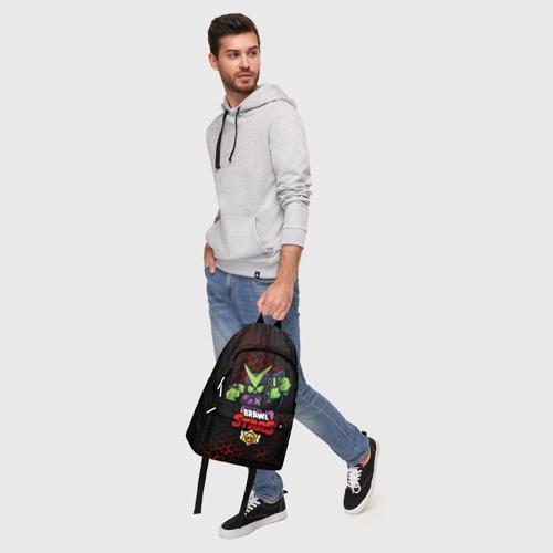 Рюкзак 3D с принтом BRAWL STARS VIRUS 8-BIT   БРАВЛ СТАРС (Z), фото #5