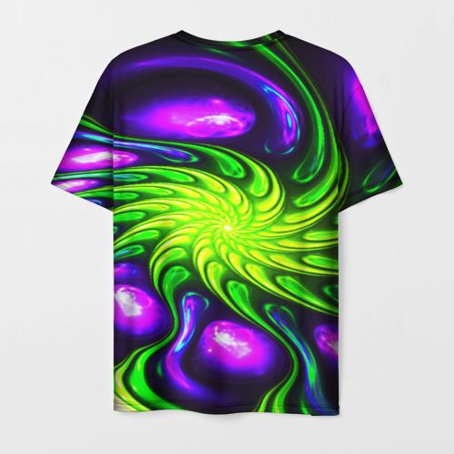 Мужская 3D футболка с принтом NEON&ACID, вид сзади #1