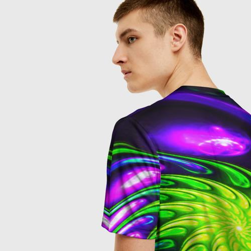Мужская 3D футболка с принтом NEON&ACID, вид сзади #2