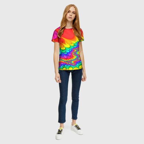 Женская 3D футболка с принтом TIE-DYE, вид сбоку #3