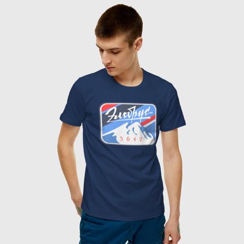 Мужская футболка с принтом Эльбрус 5642, фото на моделе #1