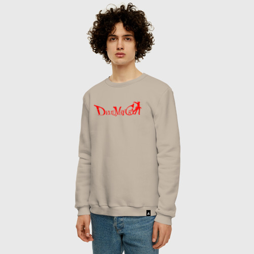 Мужской свитшот с принтом DEVIL MAY CRY (DMC), фото на моделе #1