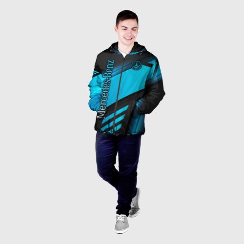 Мужская куртка 3D с принтом Mercedes-Benz, фото на моделе #1
