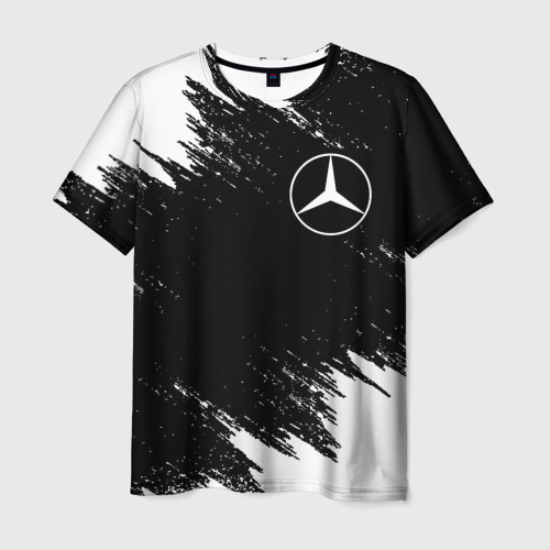 Мужская 3D футболка MERCEDES   МЕРСЕДЕС